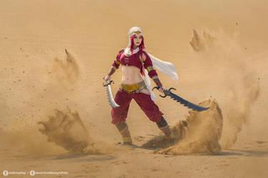 Sandstorm Katarina cosplay - League of Legends I. by EnjiNight