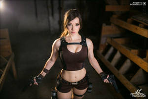 Lara Croft - Tomb Raider cosplay IV. by EnjiNight