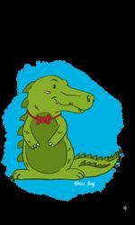 Crocodile illustration by Wolfskull1996