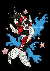 Koi tattoo design by Wolfskull1996