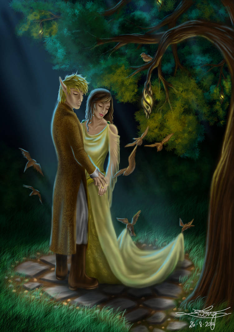 Thingol And Melian by ewmh1