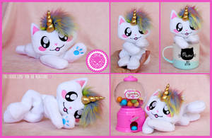 + Adorable Caticorn Plushie FOR SALE + by LionCubCreations