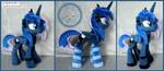 + Plush Commission: Goth Princess Luna + by LionCubCreations