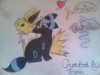 UmbreonXJolteon by GoldenClawthewolf15