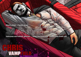 Chris Redfield is Not Red 3-5:Chris Vampfield by FlashConan