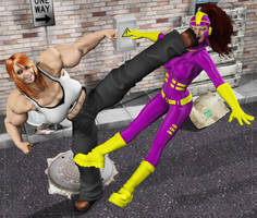 Purple Vixen and the Back Alley Shakedown VII by dangerfan