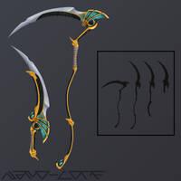 Trickweapon Anubis scythe by Nano-Core