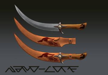 Scimitar Knife Esskafa 3/16 by Nano-Core