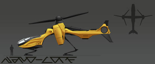 Sci-Fi Transport Helicopter Concept by Nano-Core