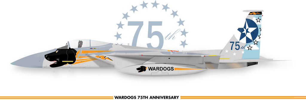 WARDOG 75TH F-15C Eagle by cillmevin