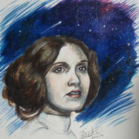 Princess of the Galaxy - RIP Carrie Fisher by DjenabaTheMangaka