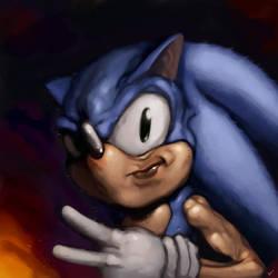 Sonic The Hedgehog by DustinWalkerArt