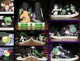 Invader Zim Shoes by Neonwolfie