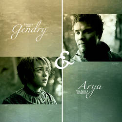 Gendry and Arya by galato