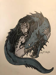 Inktober day 7: Abyss by Savage-Mojo