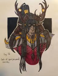 Inktober day 12: personal oc gods by Savage-Mojo