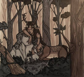 Inktober day 13 : sleeping forest  by Savage-Mojo