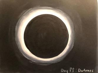 Inktober day 14 : darkness by Savage-Mojo