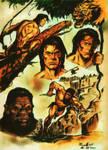 Tarzan POSTER  retro version by masuros