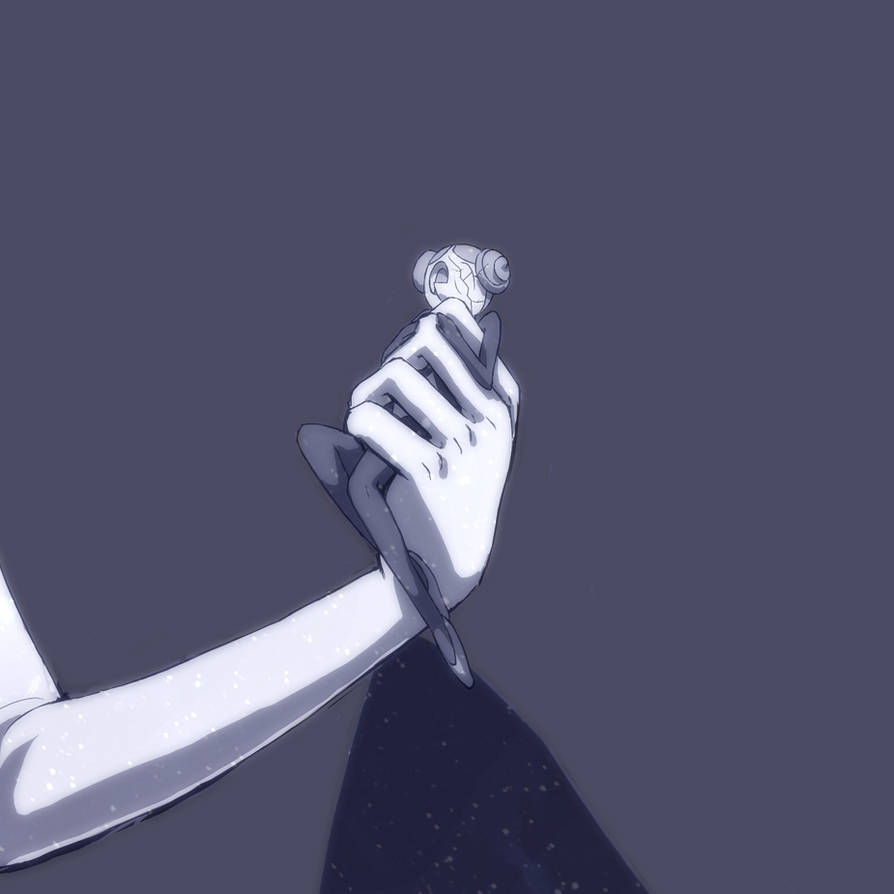 a rejected pearl from my white diamond drawing... white's arms being in the pic messed with the composition bc it added a load of blank space, so I got rid... that meant abandoning this little pear...