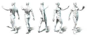 Anatomy study posing 1 by mojette