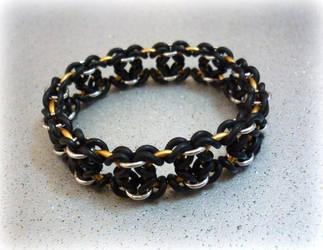 'Folded Cross' bracelet by squanpie