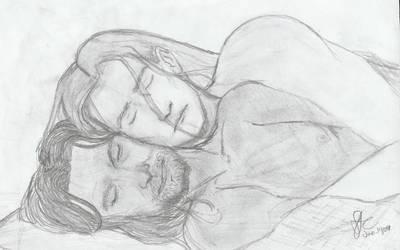 friends or...? Legolas+Aragorn by scifichicx
