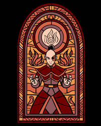 Stained Glass Zuko by Fishmas