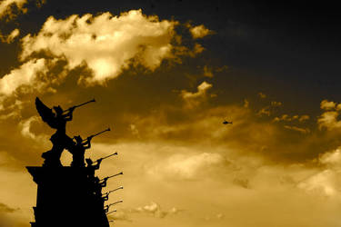 angels and a chopper by RichieTenenbaum