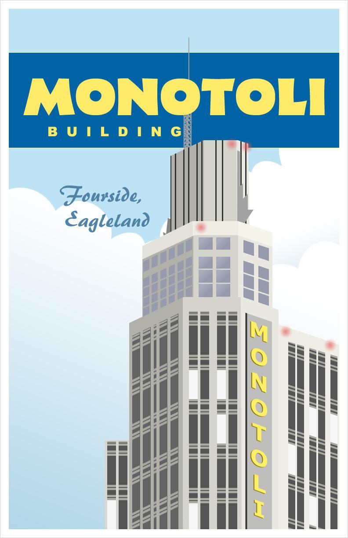 Vintage Monotoli Poster by Yomon