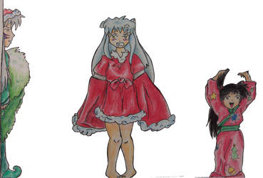 Inuyasha Christmas - scrap by orderly-chaos