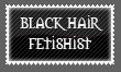 Black Hair Fetishist Stamp by Kyoakuno