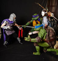 The fight against The Shredder by ZanderYurami