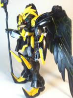 Gundam Kyoufu side profile by ZanderYurami