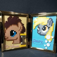 Framed Dr. Whooves and Derpy by ZanderYurami