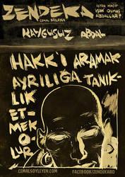 zendeka: kaygusuz poster by cemalsoyleyen