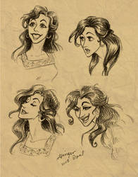 A few Loknich faces by GingerOpal
