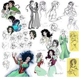 Fescu-Darnda Sketchdump by GingerOpal