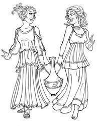 Grecian Girls by GingerOpal