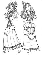 Ancient Minoan Dresses by GingerOpal