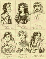 OC's backstage drawings by GingerOpal