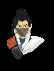 Cyborg Ninja Hanzo by KathiesCreatures