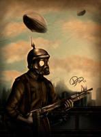 DieselPunk - Soldier by DamXVilla