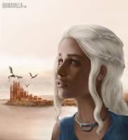 Daenerys Targaryen From Game of Thrones by DamXVilla
