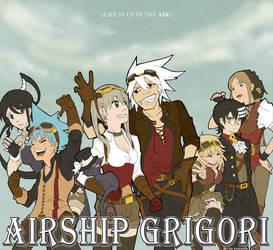 Airship Grigori by Evercelle by SilverbloodAlchemist