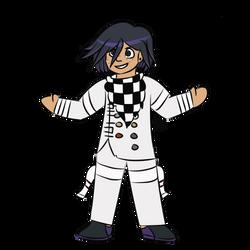 Chase cosplaying Kokichi Ouma by meep--morp