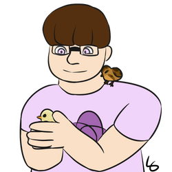 Gavin with Chickens by meep--morp