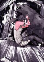 Lara VS Wolf by Neilou-X
