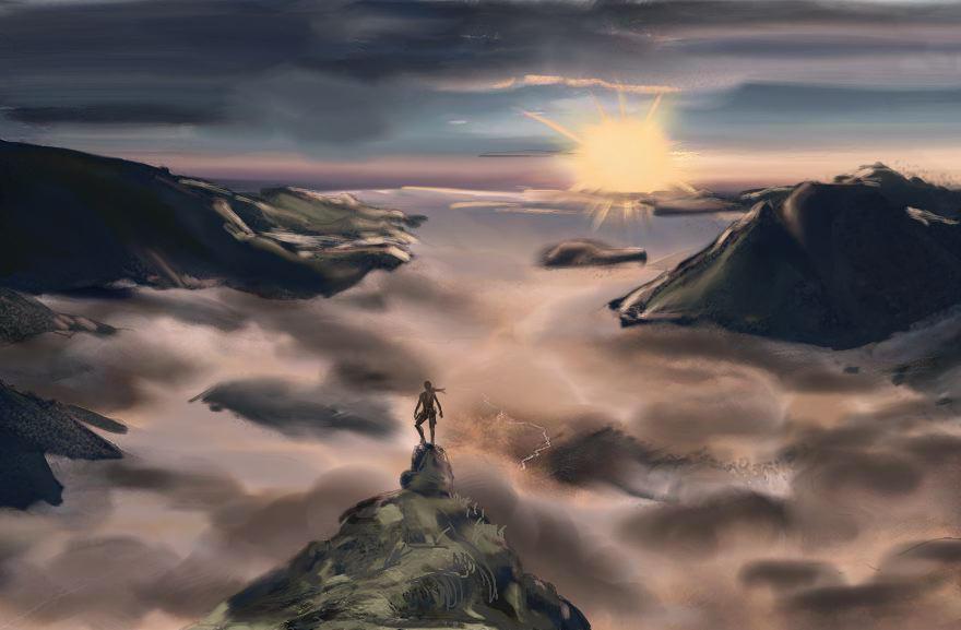 Observing the horizon - Tomb Raider Lightless by Neilou-X