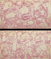 Screaming Sketches 1 by bobmeatbag